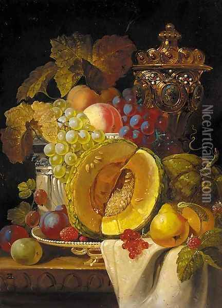 Fruits Oil Painting - Charles Thomas Bale