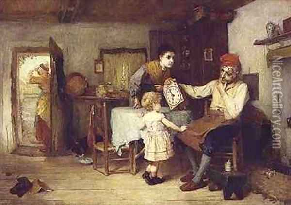 What ails it, Grandad Oil Painting - John Burr