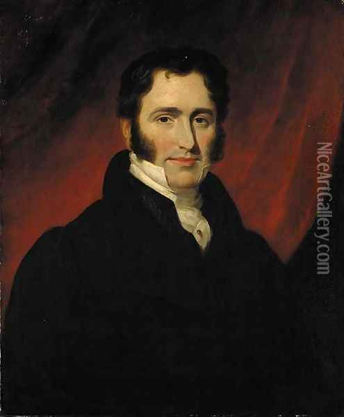 Portrait of a gentleman, said to be Judge Meadows Oil Painting - Sir William Beechey