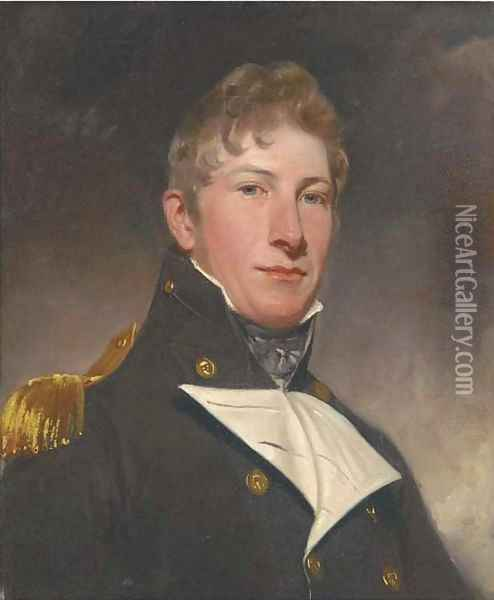 Portrait of a naval officer Oil Painting - Sir William Beechey