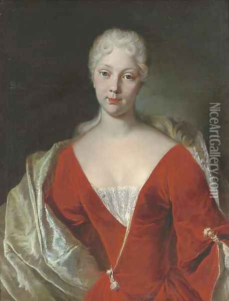 Portrait of a lady Oil Painting - Giuseppe Bonito