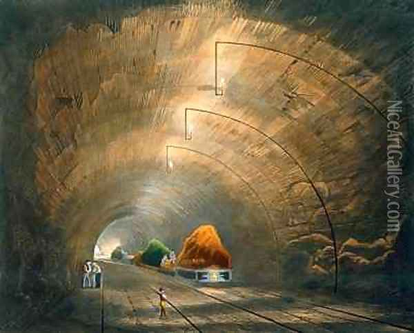 The Tunnel Oil Painting - Thomas Talbot Bury
