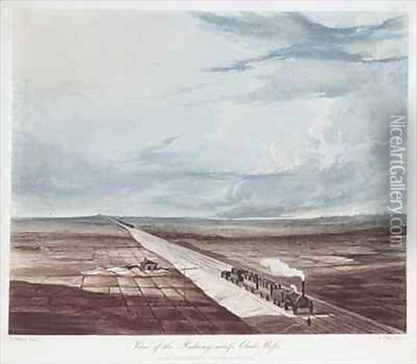 View of the Railway Across Chat Moss Oil Painting - Thomas Talbot Bury