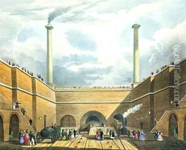 Entrance of the Railway at Edge Hill, Liverpool 2 Oil Painting - Thomas Talbot Bury