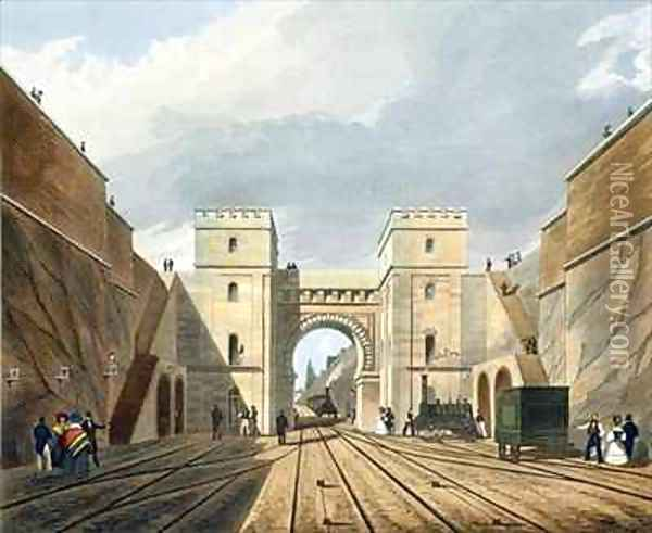 Moorish Arch, Looking from the Tunnel Oil Painting - Thomas Talbot Bury