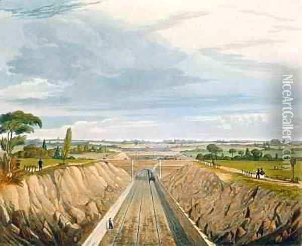 Near Liverpool, looking towards Manchester Oil Painting - Thomas Talbot Bury