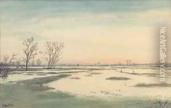 Paysage D'hiver Oil Painting - Isaak Israilevich Brodsky
