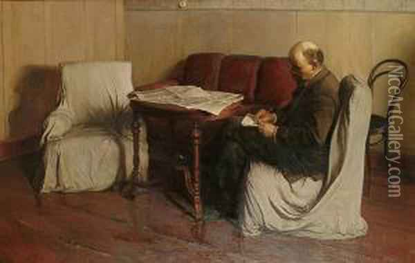 Lenin In Smolny Oil Painting - Isaak Israilevich Brodsky