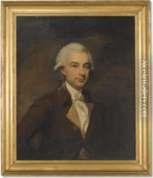 Portrait Of F. W. Geyer Oil Painting - Mather Brown