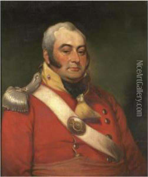 Portrait Of George Fermor, 3rd Earl Of Pomfret (1768-1830) Oil Painting - Mather Brown