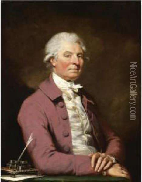 Portrait Of A Gentleman Oil Painting - Mather Brown