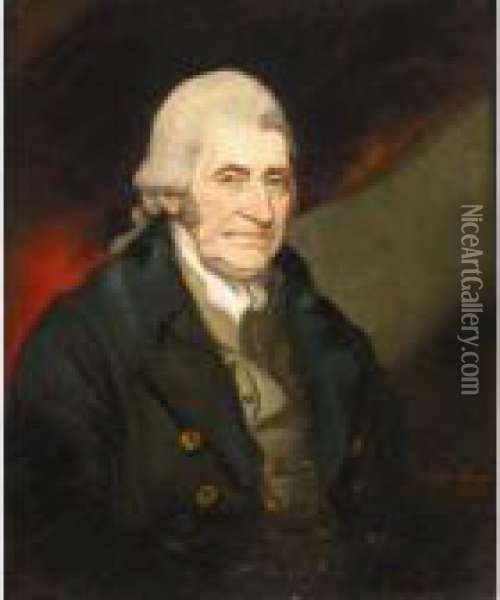 Portrait Of Henry Blundell (1724-1810) Oil Painting - Mather Brown