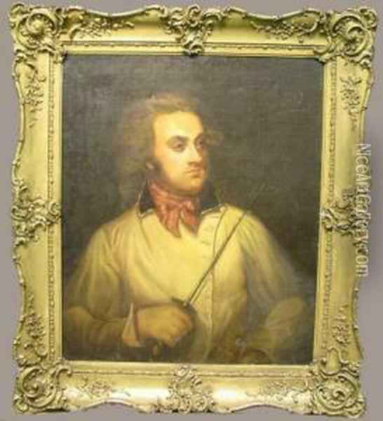 Portrait Of Henry Angelo, Master Fencer Oil Painting - Mather Brown