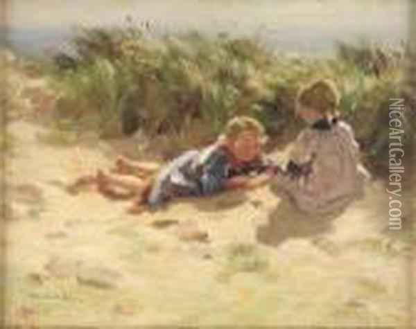 In The Dunes Oil Painting - William Mason Brown