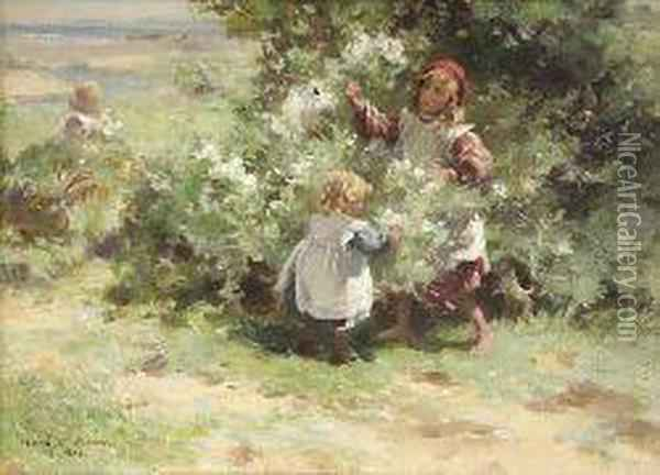 May Blossom Oil Painting - William Mason Brown