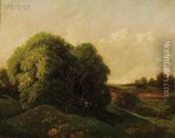 A Summer Day - Long Island Oil Painting - William Mason Brown