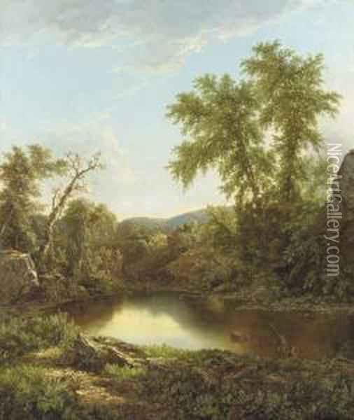 Late Afternoon Light Oil Painting - William Mason Brown