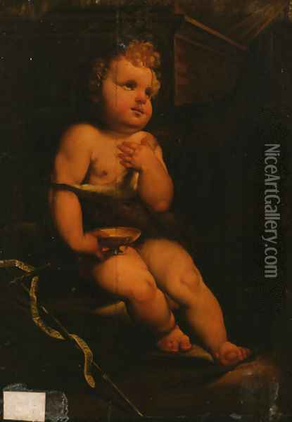 The Infant Saint John the Baptist Oil Painting - Domenico Beccafumi