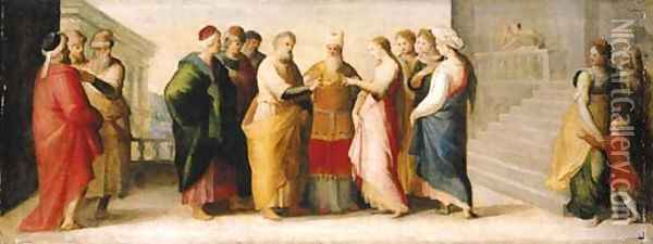 The Marriage of the Virgin Oil Painting - Domenico Beccafumi