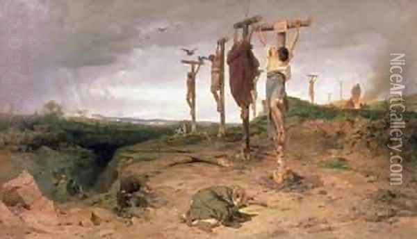 The Damned Field, Execution place in the Roman Empire Oil Painting - Fedor Andreevich Bronnikov