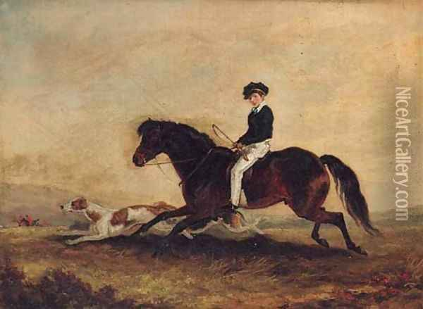 The Second Earl of Craven following a Hunt Oil Painting - Edmund Bristow