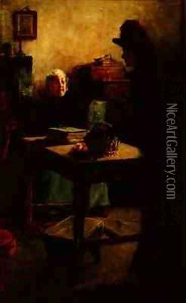 Visiting Grandfather Oil Painting - Alexander Stuart Boyd