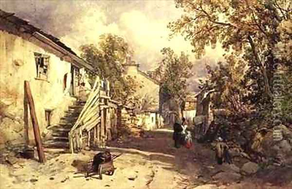 Village of Bowness, Cumberland Oil Painting - James Burrell-Smith