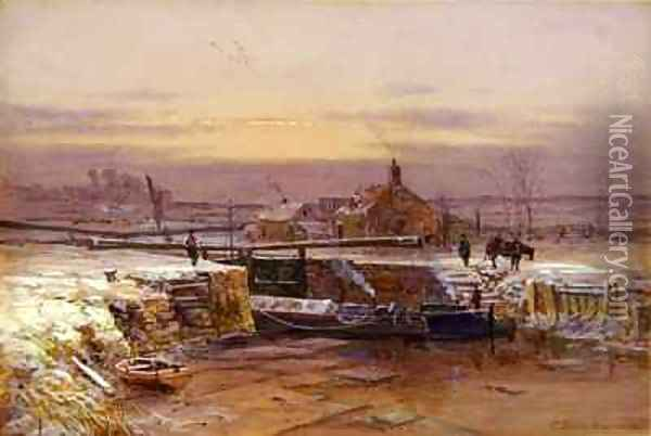 The House by the Canal Oil Painting - Charles Brooke Branwhite