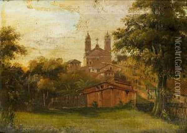 The Church Of Santa Fede Oil Painting - Abraham Louis Buvelot