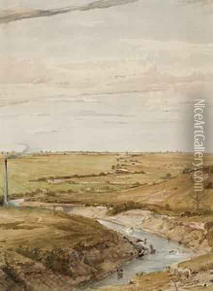 The Deviation Or Cutting, Fyansford, Geelong (barwon River) Oil Painting - Abraham Louis Buvelot