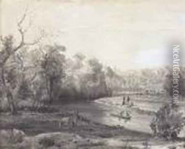 The Yarra Oil Painting - Abraham Louis Buvelot