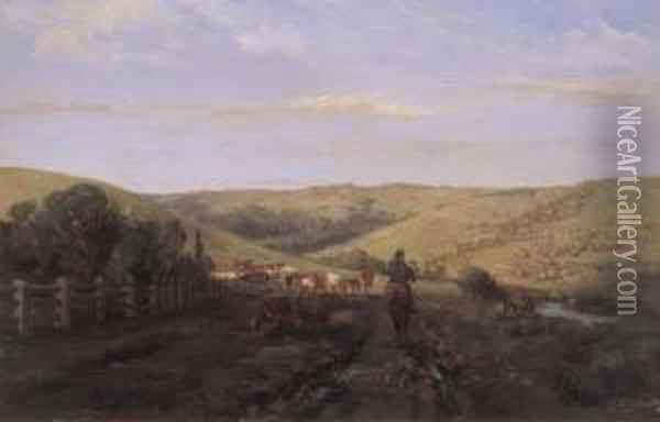 At Coleraine Oil Painting - Abraham Louis Buvelot