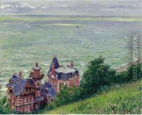 Villas A Trouville Oil Painting - Gustave Caillebotte