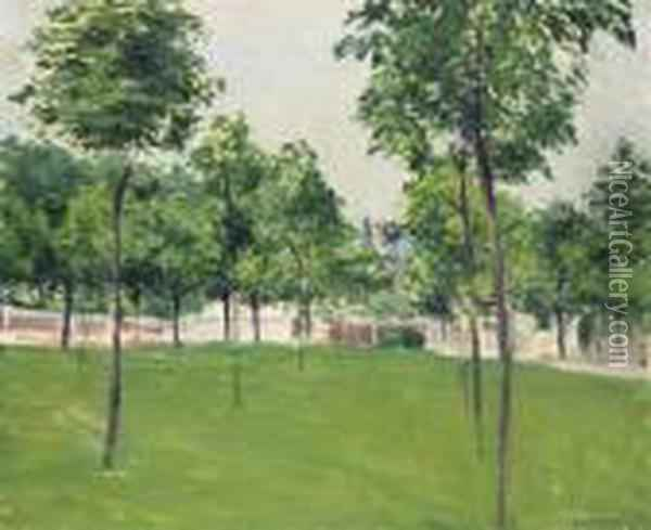 Promenade D'argenteuil Oil Painting - Gustave Caillebotte