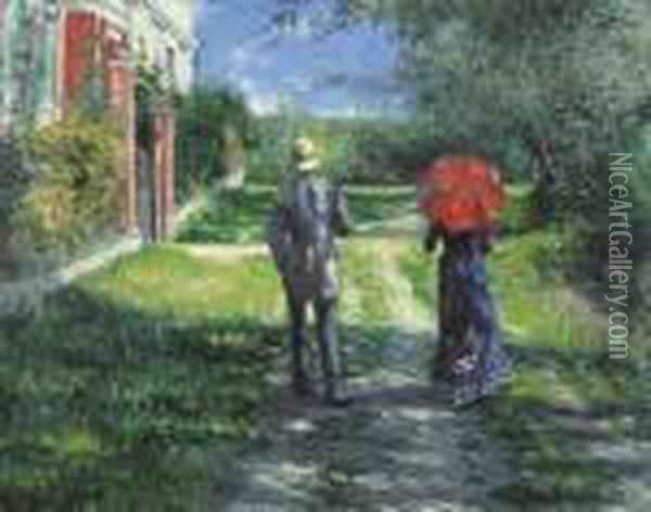 Chemin Montant Oil Painting - Gustave Caillebotte