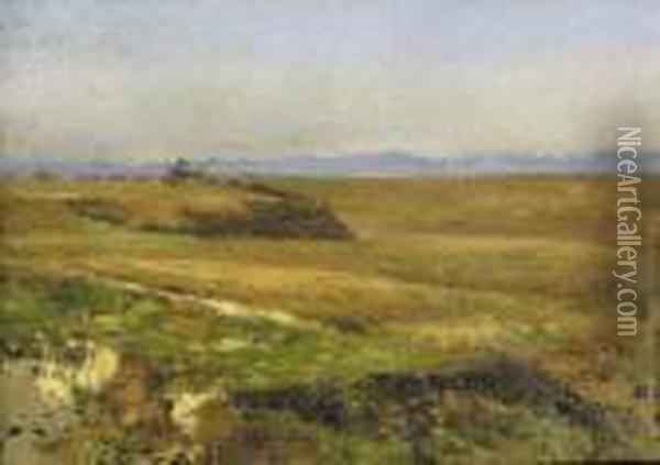 Campagna Oil Painting - Michele Cammarano