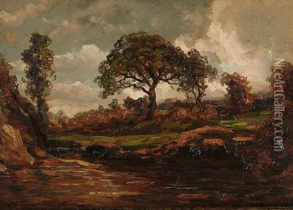 Country Landscape Oil Painting - Henry Campotosto