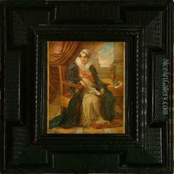 Portrait Of Countess Katerina P Oil Painting - Vincenzo Camuccini
