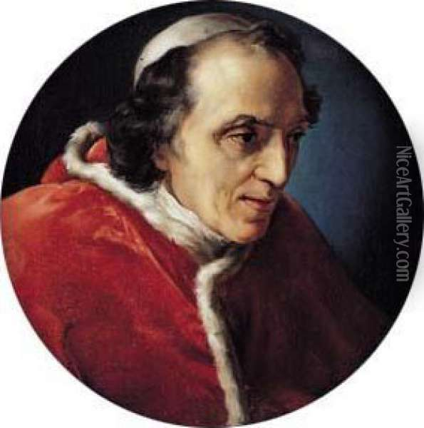 Portrait Du Pape Pie Vii Oil Painting - Vincenzo Camuccini