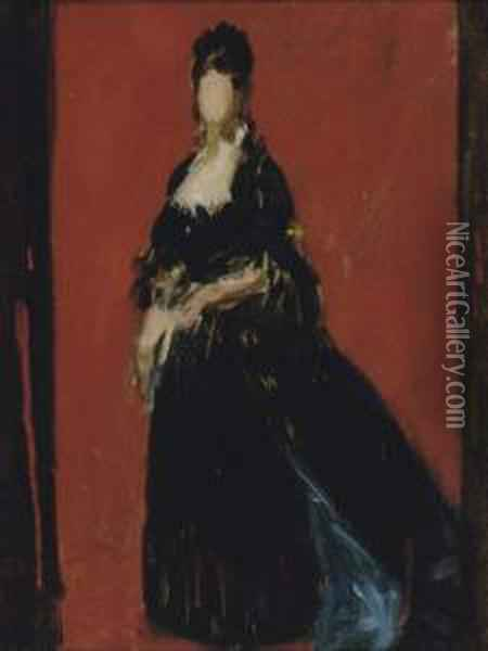 Study For A Portrait Of A Lady Oil Painting - Carolus (Charles Auguste Emile) Duran