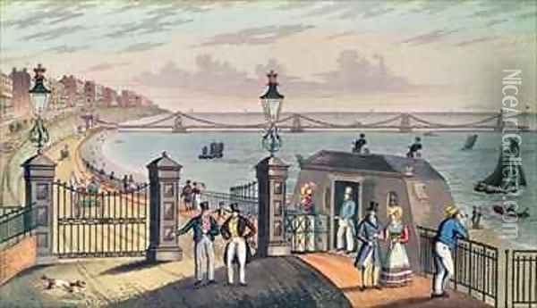 The Chain Pier on the front at Brighton Oil Painting - Ian Bruce