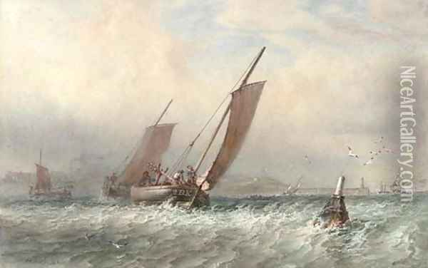 Heading out to the fishing grounds Oil Painting - Sir Oswald Walter Brierly
