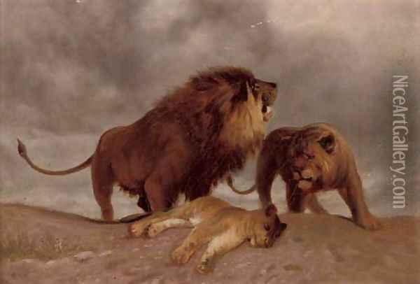 King of the pride Oil Painting - Rosa Bonheur
