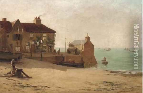 The dawn of day on the Essex coast Oil Painting - William Graham Buxton