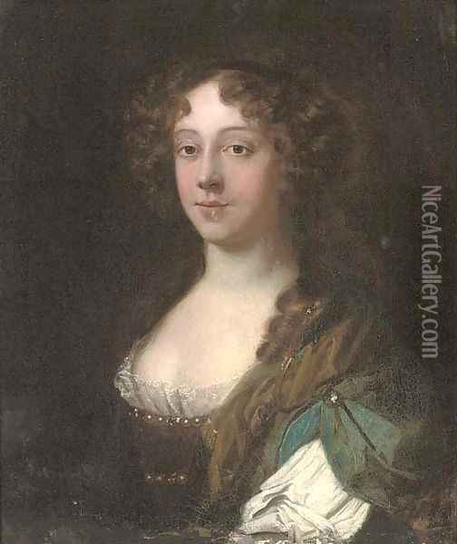 Portrait of a lady, traditionally identified as Lady Middleton Oil Painting - Mary Beale