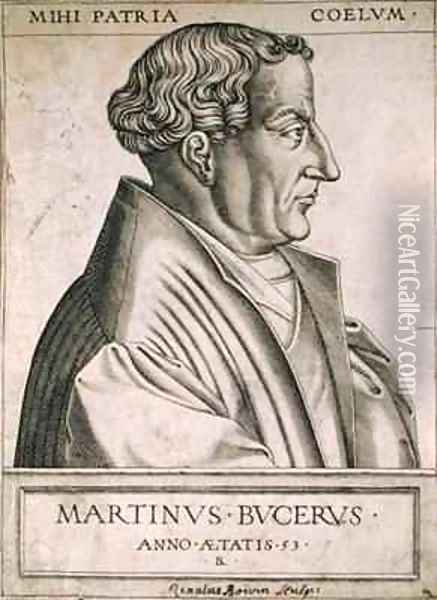 Martin Bucer (1491-1551) at the age of 53 Oil Painting - Rene Boyvin