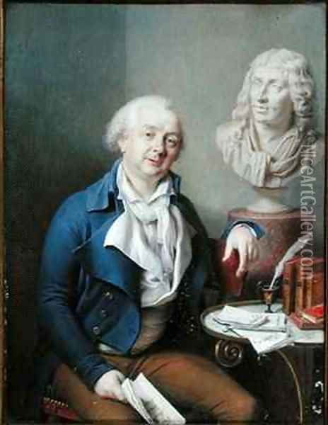 Portrait of Dazincourt (1747-1809) Oil Painting - Charles-Marie Bouton