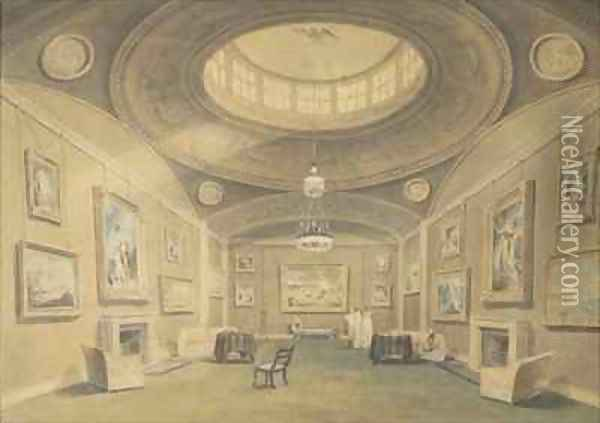 Sketch of Sir John Leicester's Gallery of Pictures Oil Painting - John Buckler