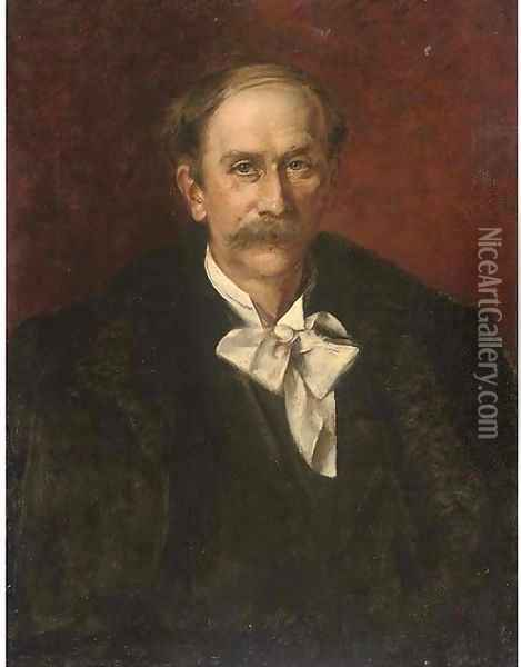 Portrait of the composer Jules Massenet (1842-1912) Oil Painting - Giovanni Boldini