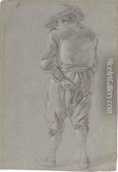 Study of a man wearing a hat Oil Painting - Gerrit Adriaensz Berckheyde